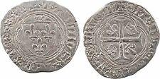 Charles VIII, blanc à la couronne, Rouen, variété - 32