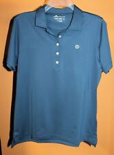 PETER MILLAR WOMEN'S SZ LARGE GOLF 4-BUTTON POLO LADIES TOP