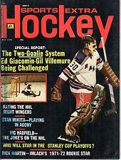 1972 (May) Sports Extra Hockey Magazine, Ed Giacomin, New York Rangers