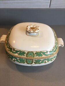 Booths China 'Dragon' Design Green, Cream and Gold. Tureen