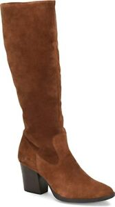 NEW IN BOX! Born Elbe Womens Tall Knee High Boots Suede Brown Rust 10 F70509$199