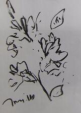 JOSE TRUJILLO - EXPRESSIONIST ORIGINAL CHARCOAL DRAWING FLORALS FLOWERS BOTANICa