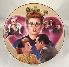 """1996 I Love Lucy-Round Plate-The Hamilton Collection-""""L.A. At Last� #0557A"""