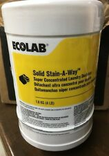 Ecolab 6113649 Laundry Detergent Stain-A-Way 4 Lbs. Solid