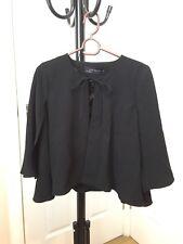 Zara Black Cape Workwear Office Wear