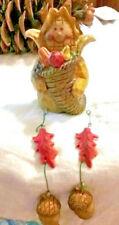 Fall Harvest Corn w/Horn of Plenty Shelf Sitter  Resin   NEW