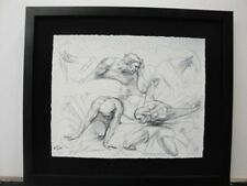 """M.L. Snowden """"Cataclassis Study""""  S/N Lithograph Framed"""