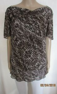 NEW SIZE 20 MINK ANIMAL PRINT TUNIC STYLE TOP M&S