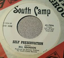 Bill Brandon – Self Preservation / Full Grown Lovin' Man ~ Promo ~ (VG++)