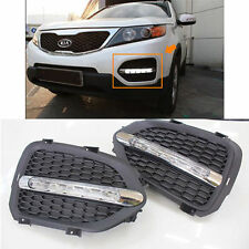 LED Day Light fog Lamp cover Assembly 2p 1Set For 10 11 12 Kia Sorento R
