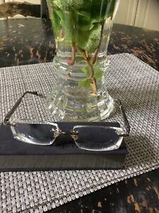 lindberg rimless precription mens glasses with case