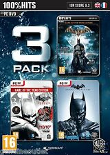 Batman Triple Pack Arkham Origins Asylum and City for PC Vista/7/8 Brand New