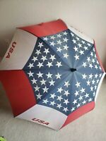 "Vintage Usa American Flag 50"" inches Umbrella Red Blue And White"