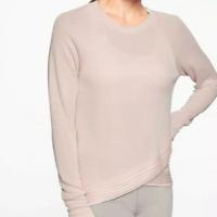Athleta - Serenity CrissCross Pink Sweatshirt - Size Small
