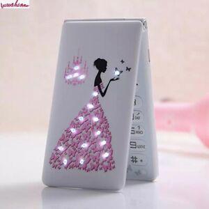 New Unlocked Flip Phone KUH D11 Dual SIM 1800mAh Card Women Girls Lady Flower Cu