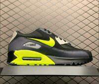 Nike Air Max 90 Essential Mens Black Grey Volt Shoes UK Size 8 9 10 Limited