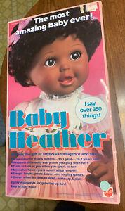 1987 Mattel Baby Heather interactive talking doll SUPER RARE