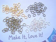 "10x-3.5mm  Sterling Silver /""Oval/"" Jump Rings Heavy-Findings-Jump Rings"