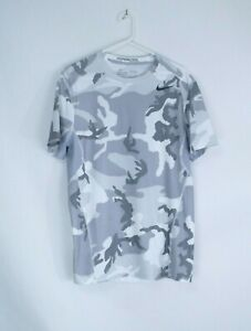 Men's Nike Pro Combat Dri-Fit Hypercool Fitted Camo Tee •Size M
