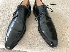 Magnanni Black Lace-Up Oxford shoes Size 10.5 M Made In Spain $295