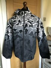 ADIDAS ORIGINALS Grey Camo Windbreaker Jacket Size Medium