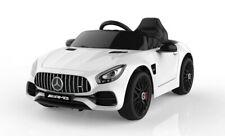Kinder Elektro Auto Mercedes AMG GT weiß, EVA, Leder, LED etc.! Neu & Ovp!!