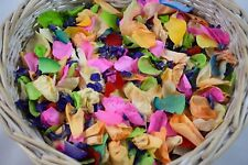 Real Petal Natural Biodegradable Wedding Confetti Eco Rainbow green pink Yellow
