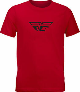 Fly Racing Youth Fly F-Wing Tee Red Yl 352-0668Yl