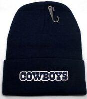 READ LISTING! Dallas Cowboys HEAT Applied Flat Logo on Beanie Knit Cap hat!