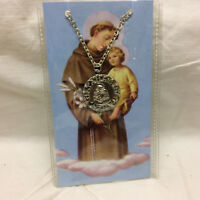 St. Anthony Medal Necklace Religious Saint of Miracles