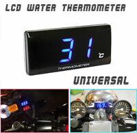 Motorrad Blau 12V Digital LCD Motorrad Wasser Temperaturanzei Thermometer Sensor