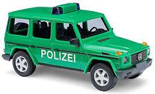 Mercedes Benz G Class W463 POLIZEI 1990-2001 grün green 1:87 Busch