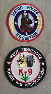 USA - 2 x Different K9 Police Patches - Tennessee