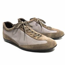TOD's Brown Suede Canvas Lace Up Driving Sneakers Gommino - US11.5/10.5UK Italy