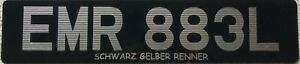 British UK Silver Digit Acrylic  Number License Licence Plate EMR 883L