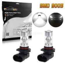 2PC 9005 HB3 9055 H10 9040 9045 LED 6000K White 60W Daytime Runnning Light Bulbs