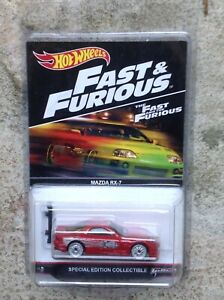 hot wheels spécial edition fast and furious mazda rx7 toretto's real riders
