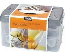 PEBEO VITREA 160 WORKBOX PAINTING ON GLASS STARTER SET 10 COLOURS BRUSH OUTLINER