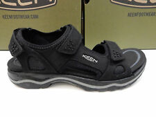 KEEN MENS SANDALS RIALTO 3 POINT BLACK NEUTRAL GREY SIZE 10.5