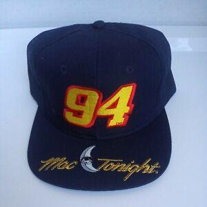 McDonald's Vintage 1990's Mac Tonight Bill Elliott 94 Embroidered Hat NEW Nascar