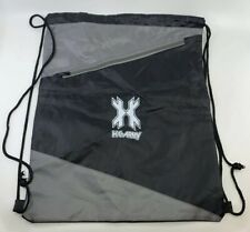 NEW HK Army Paintball Black / Grey Drawstring Backpack Bag w/ Zipper Pouch PROMO