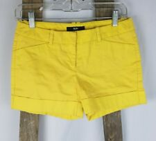 Mossimo women size 2 yellow stretch shorts