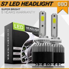 2X 880 72W 8000LM LED Headlight Bulbs High Power HID Light 6500K White Bulb