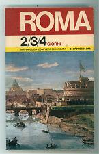 ANDREOLI PAOLO CARTOCCI SERGIO ROMA 2/3/4 GIORNI GUIDA PIANIFICATA OTO 1977
