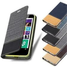 BOOK Style Cover CASE JEANS DENIM LOOK for NOKIA Flip Wallet Card Cloth