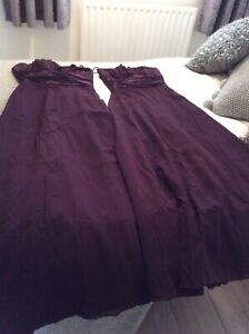 Two Plum Coloured Bandeau Bridesmaid Dresses Used Dispatched 2nd Class Royalmail