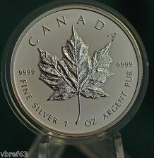 2014 CANADA $5 Special edition REVERSE PROOF FINISH Silver Maple Leaf 1 oz