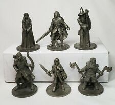 Lord of the Rings Pewter Monopoly 6 Replacement Pieces Movers Tokens Pawns