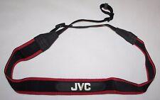 JVC - Genuine Vintage Black/Red Camera Neck Strap - vgc