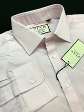 Thomas Pink Classic Fit White Light Pink Striped Dress Shirt 16.5 x 35 $185
